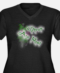 Ghost Are Re Women's Plus Size Dark V-Neck T-Shirt