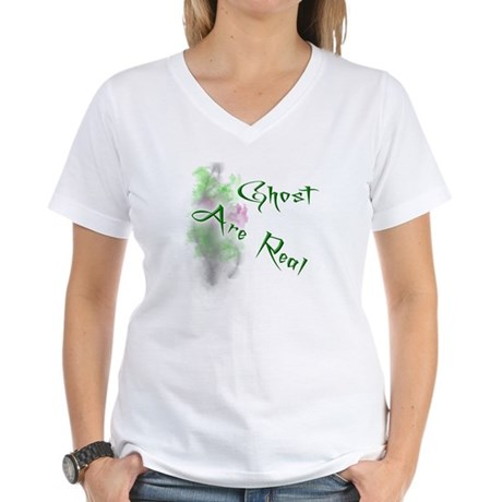 Ghost Are Real Women's V-Neck T-Shirt