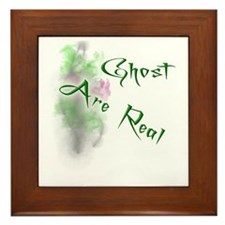 Ghost Are Real Framed Tile