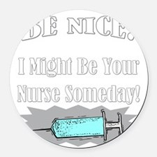 nurse001drk Round Car Magnet