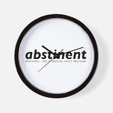 abstinent Wall Clock
