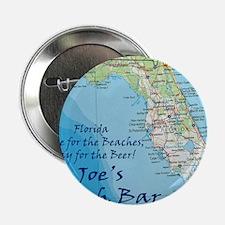 "florida map Stay Joes Beach Bar 2.25"" Button"