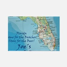 florida map Stay Joes Beach Bar Rectangle Magnet