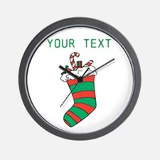 Christmas - HERE YOUR TEXT Wall Clock