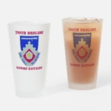 229TH SUPPORT BN WITH TEXT Drinking Glass