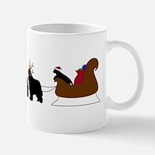 Santa Sleigh Pup Mug