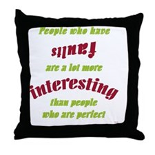 PeopleFaults Throw Pillow