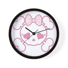 Goth Girl Wall Clock