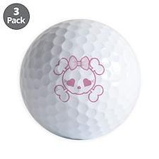 Goth Girl Golf Ball