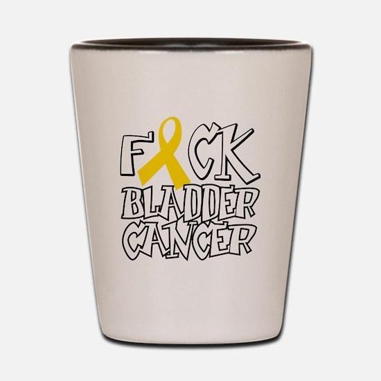Fuck-Bladder-Cancer-blk Shot Glass