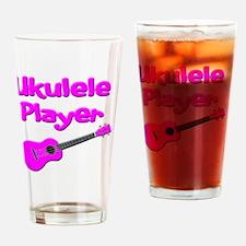 girls pink ukulele Drinking Glass