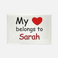 My heart belongs to sarah Rectangle Magnet
