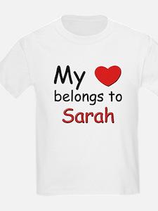 My heart belongs to sarah Kids T-Shirt