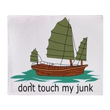 dont touch my junk hat Throw Blanket