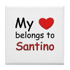 My heart belongs to santino Tile Coaster