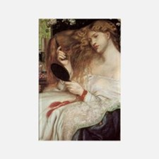 Lady Lilith by Dante Rossetti Rectangle Magnet