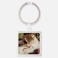 Lady Lilith by Dante Rossetti Square Keychain