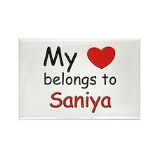 My heart belongs to saniya Rectangle Magnet