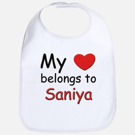My heart belongs to saniya Bib