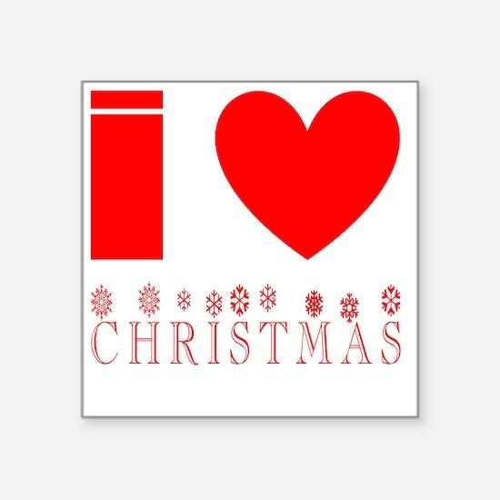 "i heart christmas Square Sticker 3"" x 3"""