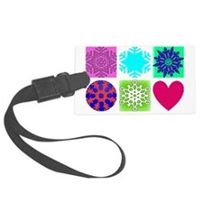snow flakes coloured Luggage Tag