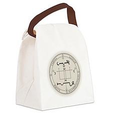GabeSealBlk Canvas Lunch Bag