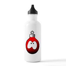 christmas globe red Water Bottle