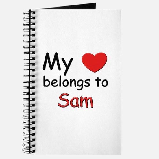 My heart belongs to sam Journal