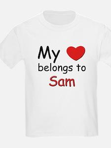 My heart belongs to sam Kids T-Shirt