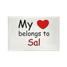 My heart belongs to sal Rectangle Magnet