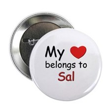 My heart belongs to sal Button