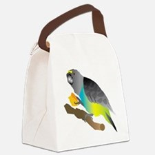muzi on perch Canvas Lunch Bag