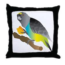 muzi on perch Throw Pillow