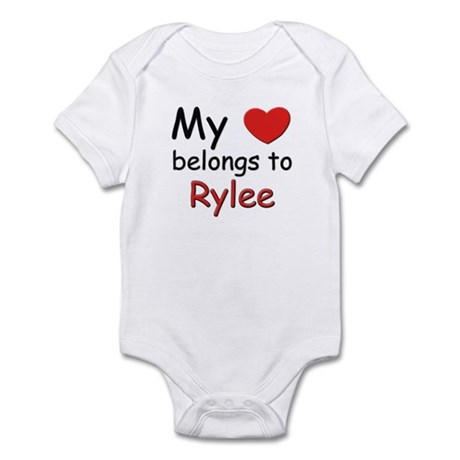 My heart belongs to rylee Infant Bodysuit