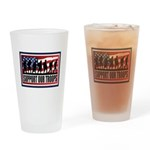 Support Our Troops Drinking Glass