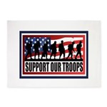 Support Our Troops 5'x7'Area Rug