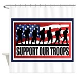 Support Our Troops Shower Curtain