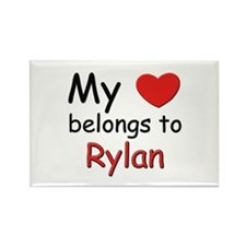 My heart belongs to rylan Rectangle Magnet