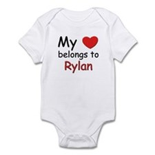 My heart belongs to rylan Infant Bodysuit