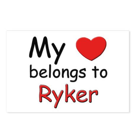 My heart belongs to ryker Postcards (Package of 8)