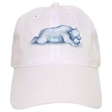polar bear napping Baseball Baseball Cap