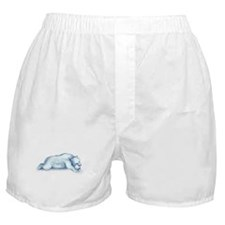 polar bear napping Boxer Shorts