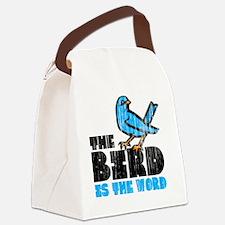 Word Bird Canvas Lunch Bag