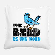 Word Bird Square Canvas Pillow