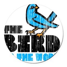 Word Bird Round Car Magnet