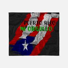 Puerto Rico, My Pride Throw Blanket