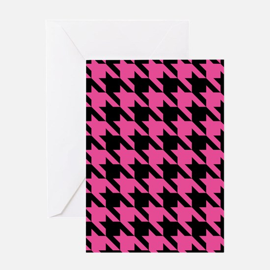 houndstooth-xl-pink_ipad Greeting Card