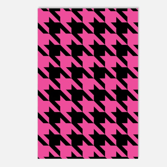 houndstooth-xl-pink_ipad Postcards (Package of 8)