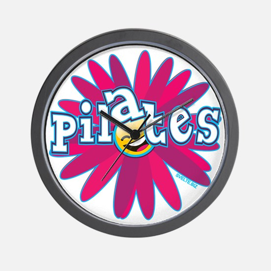 PILATES SMILEY FLOWER copy Wall Clock