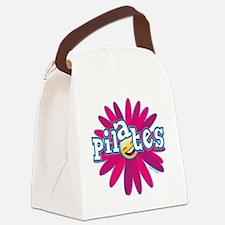 PILATES SMILEY FLOWER copy Canvas Lunch Bag
